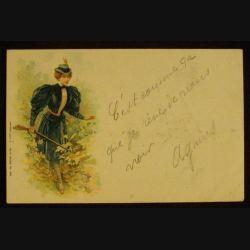 FEMME CHASSEUR - CARTE DE 1902