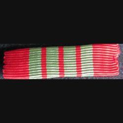 FRANCE : ruban plié en rappel de décoration de la  croix de guerre 1939 1945