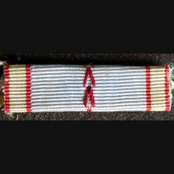 FRANCE : ruban plié en rappel de décoration de la médaille commémorative 1939 1945