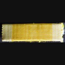 FRANCE : ruban plié en rappel de décoration de la médaille militaire couleurs passées