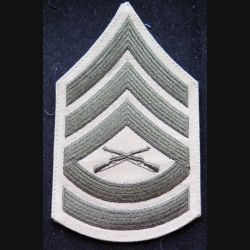 USA : galon de combat sable de sergent des marines corps