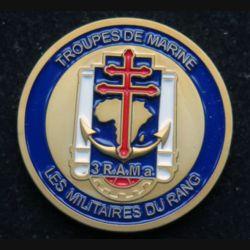 3° RAMA : Médaillette des militaires du rang du 3° régiment d'artillerie de Marine de diamètre 3,5 cm