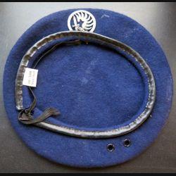 Béret bleu noir avec insigne des chasseurs parachutistes fabrication Bichet taille unique (C208)
