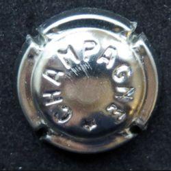 Capsule Muselet de bouteille de champagne lettres estampées en creux (L5)