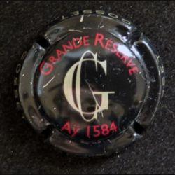 Capsule Muselet de bouteille de champagne Gosset Grande réserve Aÿ 1584 rayé (L6)