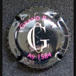 Capsule Muselet de bouteille de champagne Gosset Grand Rosé Aÿ 1584 rayé (L6)
