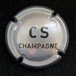 Capsule Muselet de bouteille de champagne Comte de Senneval argenté (L7)