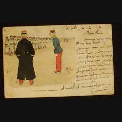 CARTE POSTALE HUMOUR MILITAIRE SIGNÉE GUILLAUME 1904