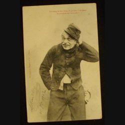 CARTE POSTALE HUMOUR MILITAIRE 1902