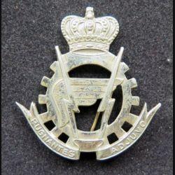 insigne de béret de la logistique de l'armée belge argenté