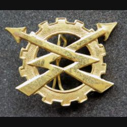 insigne du génie électrique et mécanique R.E.M.E de l'armée belge doré