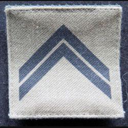 FRANCE : galon de combat de sergent engagé basse visibilité sur scratch