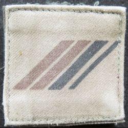 FRANCE : galon de combat de Caporal chef  engagé basse visibilité sur scratch et fourreau vertical