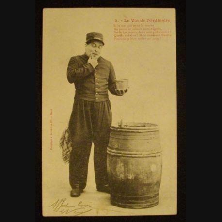 CARTE POSTALE HUMOUR MILITAIRE 1903 - Ma Collection Pas Chère