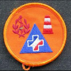 insigne tissu de la sécurité civile
