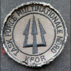 KFOR : Insigne tissu de la Task Force multinationale Nord KFOR 8 cm sur velcro