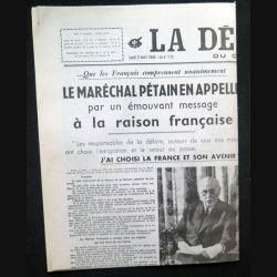 Journal La Dépêche du centre lundi 5 avril 1943 (C209)