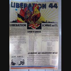Affiche Liberation 1944 avec l'ordre du jour n° 8 42x 57 cm Editions Marcus (C209)