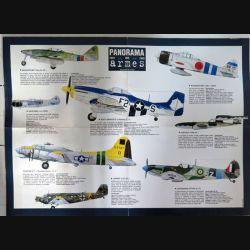 Affiche sélection d'avions Panorama des Armées 41,7 x 57 cm (C209)