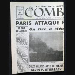 Journal Combat n° 62 du jeudi 24 Août 1944 (C209)