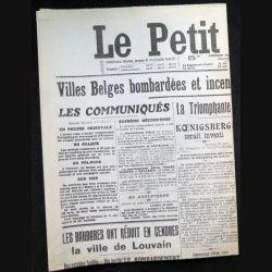 Journal Le petit journal du dimanche 30 Août 1914  (C209)