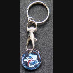 1° RSMV : Porte clef de jeton de caddie du 1° régiment du service militaire volontaire