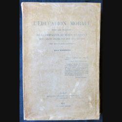 L'Education morale dans les collèges ed. 1913 écrit par André Shimberg aux éditions Honoré Champion Libraire - F010