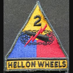 USA : 2° Armored division US army patch l'enfer sur roues Hell on wheels