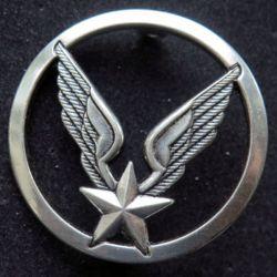 ALAT : insigne de béret de l'aviation légère de l'armée de terre ALAT Coinderoux argenté