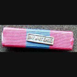 FRANCE : Rappel de décoration de la médaille de la défense nationale barrette infanterie avec attache arrière