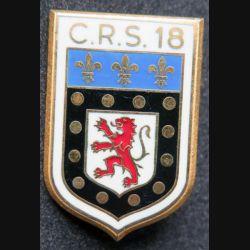 CRS 18 : insigne de la compagnie républicaine de sécurité n° 18 fabrication Drago