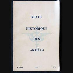 Revue Historique des Armées N°1 (1977 - 4° année) - F011