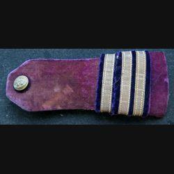 Très vieille épaulette de capitaine dentiste de la marine en velours violet