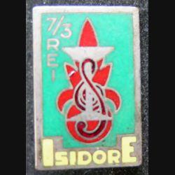 3° REI : 3° régiment étranger d'infanterie  ISIDORE 7° compagnie Drago vert foncé en émail 25 mm