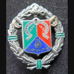 1° REC : insigne métallique du 1° régiment étranger de cavalerie de fabrication Drago H. 162