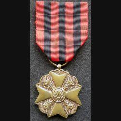 BELGIQUE : médaille de bronze du mérite civique belge (3° Classe)