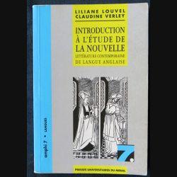 Introduction à l'étude de la nouvelle littérature contemporaine de langue anglaise Liliane Louvel, Claudine Verley - F013