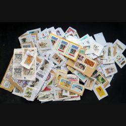 FRANCE : lot de plus de 350 timbres oblitérés à décoller (C208)