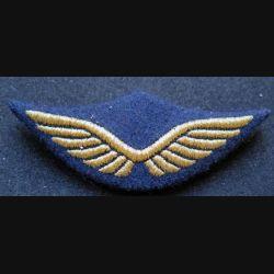AIR : Insigne tissu de casquette de cadre de l'armée de l'air en fils dorés avec poussoirs
