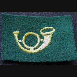 Insigne de spécialité cantonnier jaune sur fond vert
