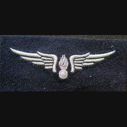 AIR : insigne tissu de la gendarmerie de l'air en fils argentés