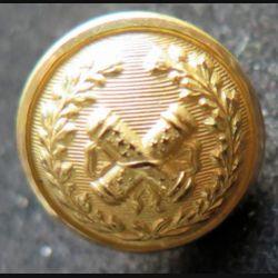 bouton d'uniforme militaire de maréchal 1,7 cm avec poinçons au dos