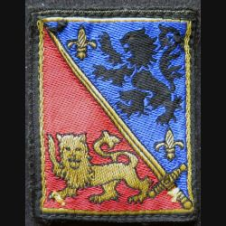 12 °DI :  insigne tissu de la 12° divission d'infanterie avec crochets