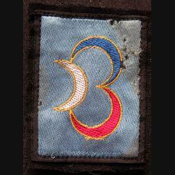 3° DB : insigne tissu de la 3° division blindée avec crochets