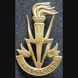 insigne des transmissions de l'armée belge doré