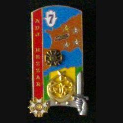 """PROMOTION ENSOA : insigne du 4° bataillon de la 249° promotion de l'ENSOA """"adjudant NEZZAR"""" Arthus Bertrand G. 4989"""