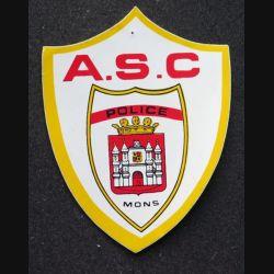 Autocollant de l'ASC Police Mons hauteur 10,5 cm