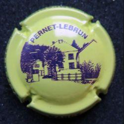 Capsule Muselet de bouteille de champagne Pernet-Lebrun vert jaune (L1)