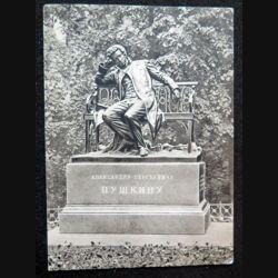 Carte postale Monument de Léningrad Alexandre Pouchkine 1900