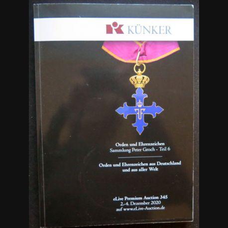 CATALOGUE KÜNKER du 2-4 décembre 2020 sur les ordres et médailles 2061 photos (C208)